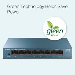 Switch Desktop 8 Porte RJ45 10/100/1000Mbps Auto-MDI/MDIX